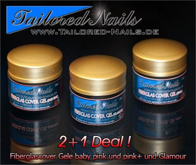 Fiberglas Cover Gel Set 2 + 1