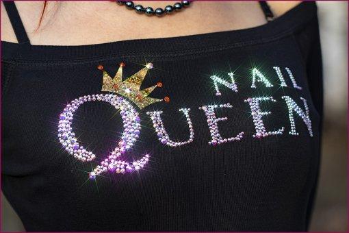 Strass Shirt Nail Queen