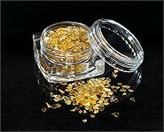 Spiegelglassplitter goldfarben