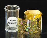 Metallikeffekt Transferfolie Gold Starbust