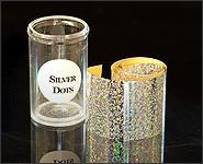 Metallikeffekt Transferfolie Silver Dots